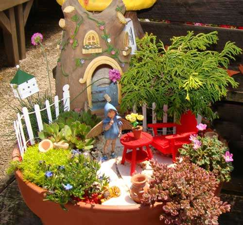 colorful fairy garden