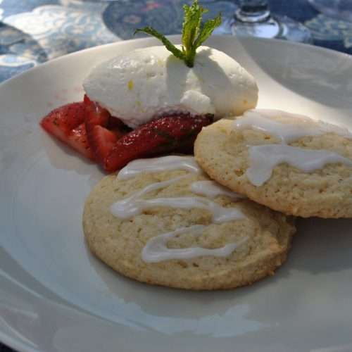 shortbread cookie flavored with lavender