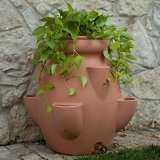 Terra Cotta Tuscana Strawberry Pot Rain Barrel