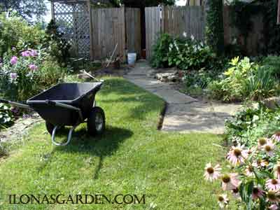 garden cleanup is easy with a wheel barrow